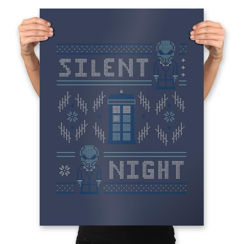 Silent Night - Ugly Holiday - Prints - Posters - RIPT Apparel