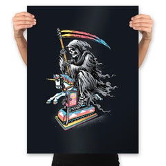 Death Enjoying Life - Prints - Posters - RIPT Apparel
