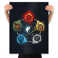 Dice Elements - Prints - Posters - RIPT Apparel