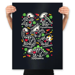 Dinosaurs skeletons - Prints - Posters - RIPT Apparel