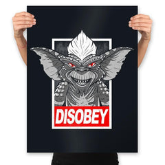Disobey The Rules - Prints - Posters - RIPT Apparel