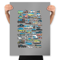 Famous Cars - Anytime - Prints - Posters - RIPT Apparel