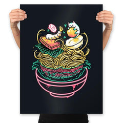 Floating Ramen - Prints - Posters - RIPT Apparel