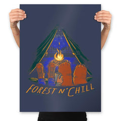 Forest And Chill - Prints - Posters - RIPT Apparel