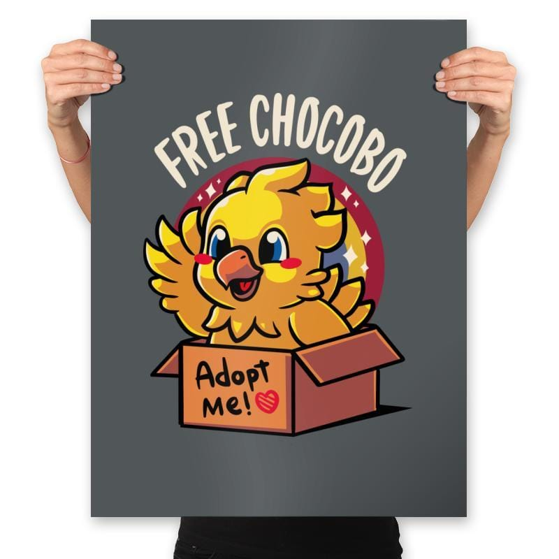 Free Chocobo - Prints - Posters - RIPT Apparel