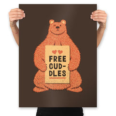 Free Cuddles - Prints - Posters - RIPT Apparel