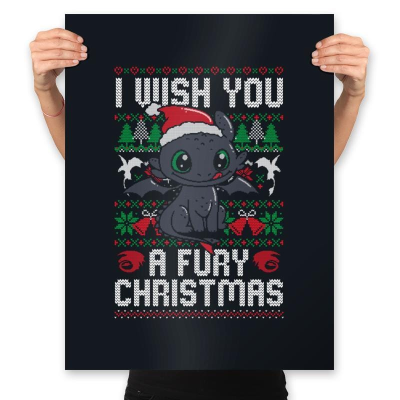Fury Christmas - Prints - Posters - RIPT Apparel