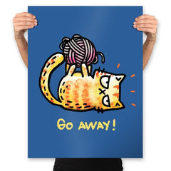 Go Away Right Meow - Prints - Posters - RIPT Apparel