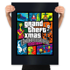 Grand Theft Xmas: Halloweentown - Prints - Posters - RIPT Apparel
