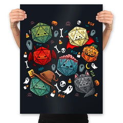 Halloween Dice - Prints - Posters - RIPT Apparel