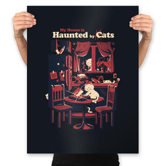 Haunted by Cats - Prints - Posters - RIPT Apparel