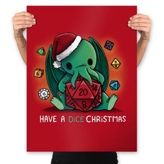 Have a Dice Christmas - Prints - Posters - RIPT Apparel