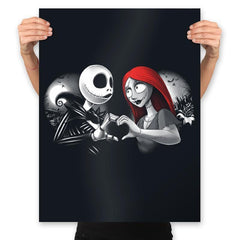 Her Skeleton, His Doll - Prints - Posters - RIPT Apparel