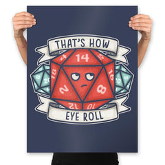 How Eye Roll - Prints - Posters - RIPT Apparel