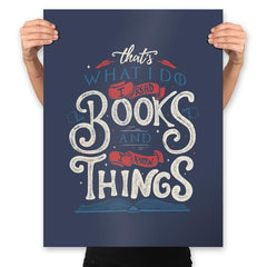 I Read Books - Prints - Posters - RIPT Apparel