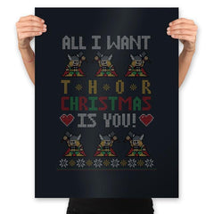 I Wish Thor You - Ugly Holiday - Prints - Posters - RIPT Apparel