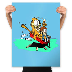 Jon and a Lasagna Lover - Prints - Posters - RIPT Apparel