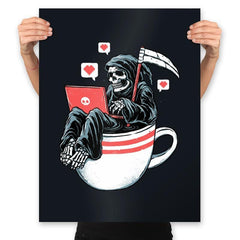 Love Death and Coffee - Prints - Posters - RIPT Apparel