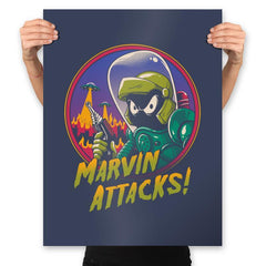 Marvin Attacks! - Prints - Posters - RIPT Apparel