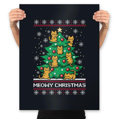 Meowy christmas - Ugly holiday - Prints - Posters - RIPT Apparel