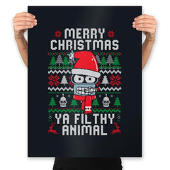 Merry Christmas Ya Filthy Animal - Prints - Posters - RIPT Apparel