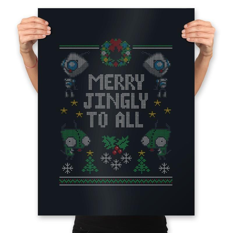 Merry Jingly - Ugly Holiday - Prints - Posters - RIPT Apparel