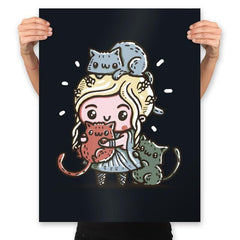 Mother Of Cats - Prints - Posters - RIPT Apparel