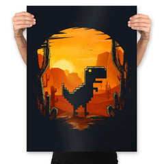 No Internet Dino - Prints - Posters - RIPT Apparel