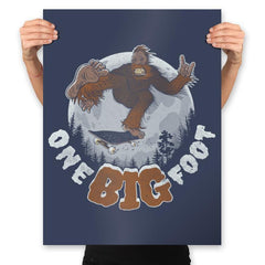 One Big Foot - Prints - Posters - RIPT Apparel