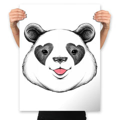 Panda Love - Prints - Posters - RIPT Apparel