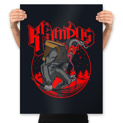 Papa Krampus - Prints - Posters - RIPT Apparel