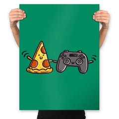 Pizza and Games - Prints - Posters - RIPT Apparel