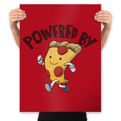 Powered By Pizza - Prints - Posters - RIPT Apparel