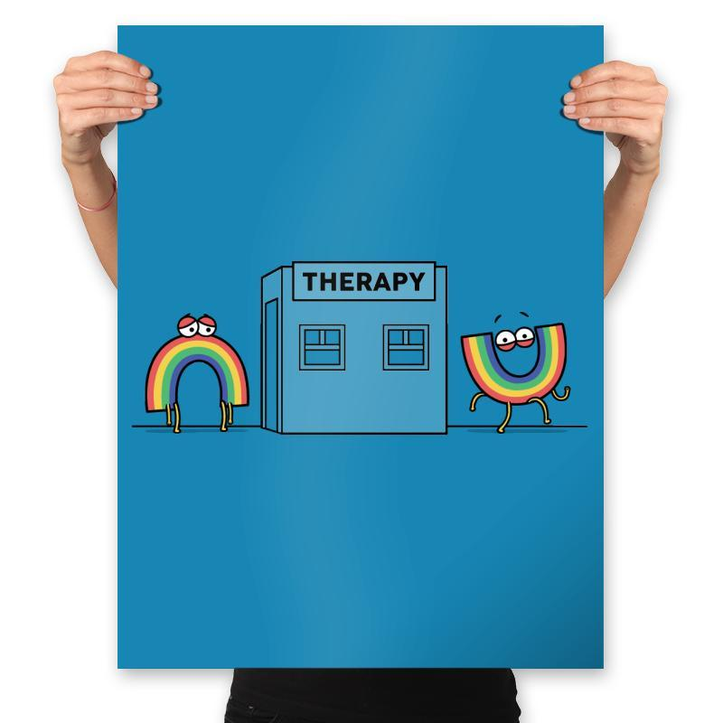 Rainbow Therapy - Prints - Posters - RIPT Apparel