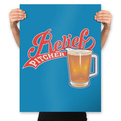Relief Pitcher - Prints - Posters - RIPT Apparel