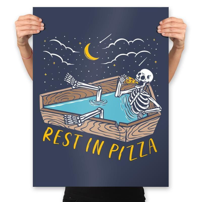 Rest In Pizza - Prints - Posters - RIPT Apparel