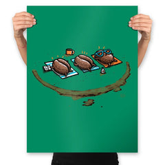 Roasted Coffee - Prints - Posters - RIPT Apparel