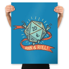 Rock and Rollplay - Prints - Posters - RIPT Apparel