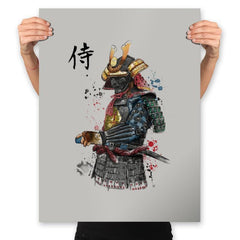 Samurai Watercolor - Prints - Posters - RIPT Apparel
