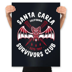 Santa Carla Survivors Club - Prints - Posters - RIPT Apparel
