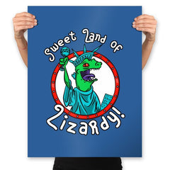 Sweet land of Lizardy - Prints - Posters - RIPT Apparel