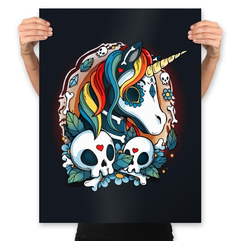 Sweet Unicorn Cammeo - Prints - Posters - RIPT Apparel