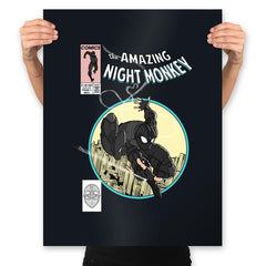 The Amazing Night Monkey - Anytime - Prints - Posters - RIPT Apparel