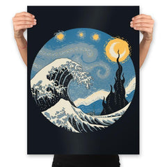The Great Starry Wave - Prints - Posters - RIPT Apparel