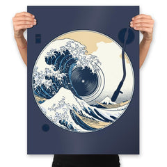 The Great Wave off Music - Prints - Posters - RIPT Apparel