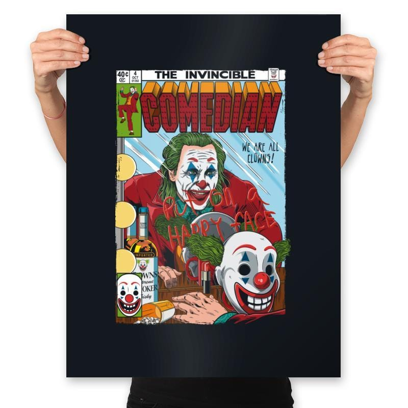 The Invincible Comedian - Prints - Posters - RIPT Apparel