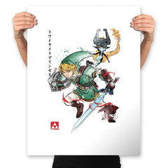 Twilight Princess Watercolor - Prints - Posters - RIPT Apparel