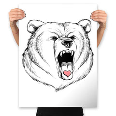 Universal Language Bear Love - Prints - Posters - RIPT Apparel