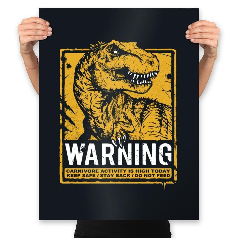 Warning: Carnivore - Prints - Posters - RIPT Apparel