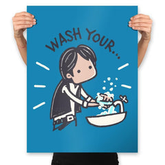 Wash Your Han - Prints - Posters - RIPT Apparel